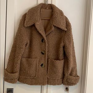 Free People teddy bear jacket NWT size Small